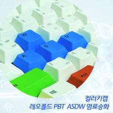 레오폴드 PBT  ASDW 염료승화 컬러키캡 - 영문정각(상단)