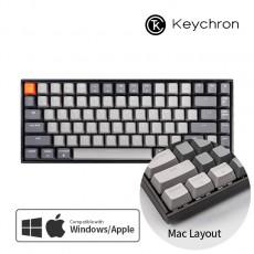 Keychron K2 RGB 라이트그레이 블루투스(84키) 한글