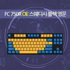 FC750R OE 스웨디시 블랙 영문 레드(적축)